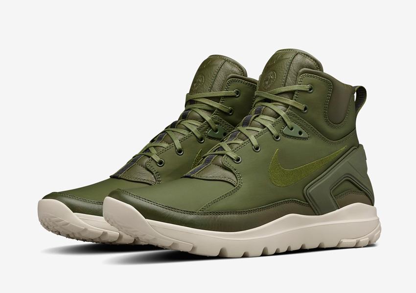 NikeLab x Stone Island Koth Ultra Mid — sportovní sneakers, kotníkové boty, pánské, sportovní — zelené (army green)
