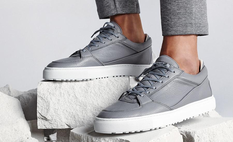 ETQ Amsterdam — Low 3 — luxusní boty, kožené tenisky, sneakers — šedé — pánské, dámské, unisex — lookbook jaro/léto 2016