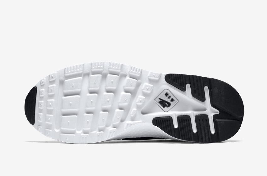 Nike Air Huarache Ultra — černo-bílá podrážka