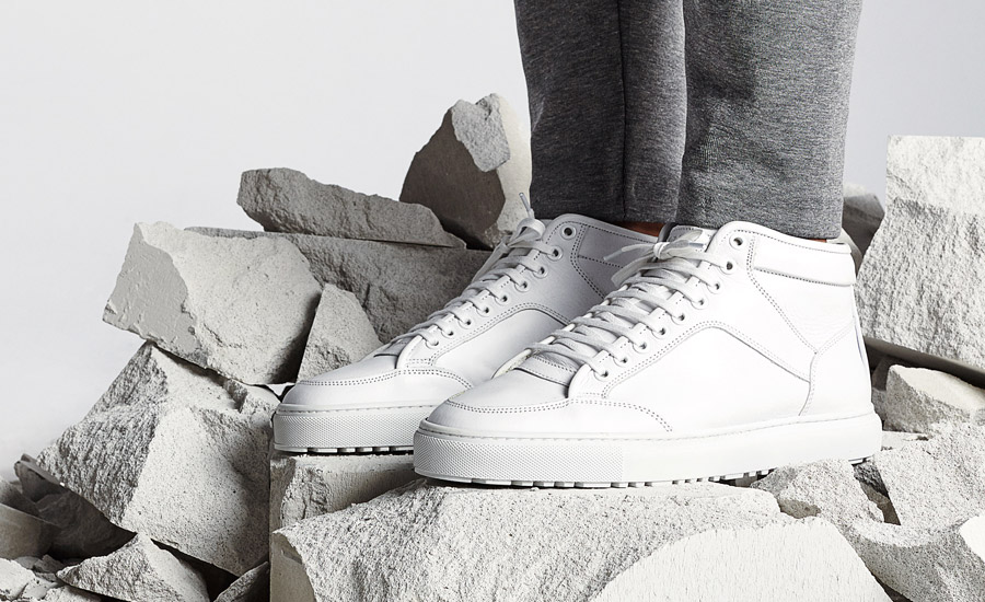 ETQ Amsterdam — High 1 — vysoké kotníkové sneakers, boty, tenisky — bílé — dámské, pánské, unisex — lookbook jaro/léto 2016