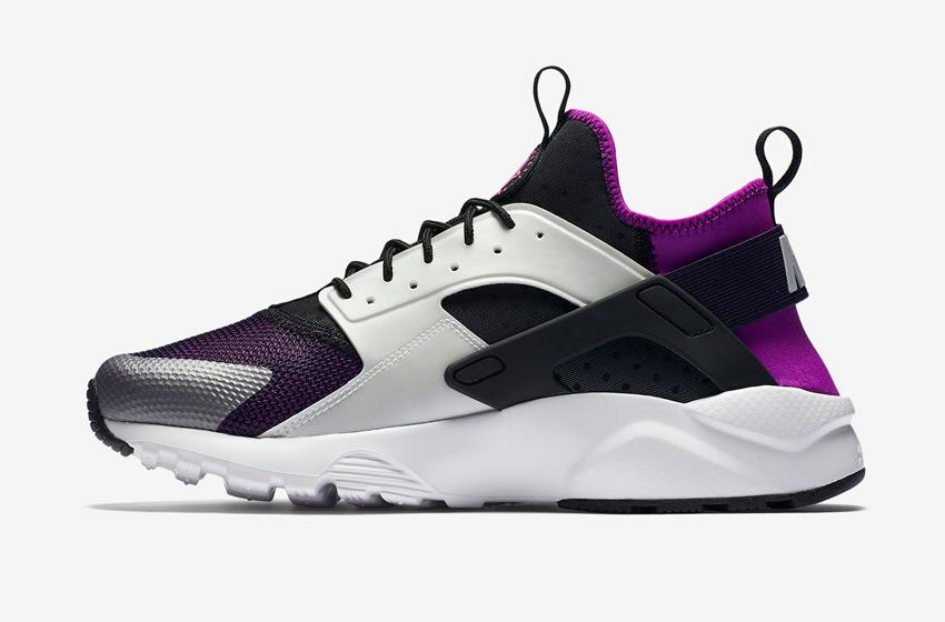 Nike Air Huarache Ultra — pánské boty, sneakers, běžecké — šedé, černé, fialové