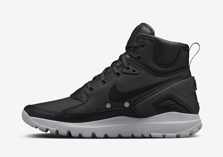 NikeLab x Stone Island Koth Ultra Mid — vysoké kotníkové boty, sportovní, pánské sneakers — černé, šedá podrážka