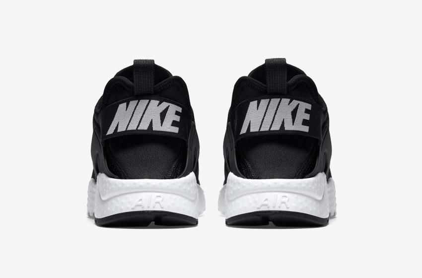 Nike Air Huarache Ultra — černé — zadní pohled