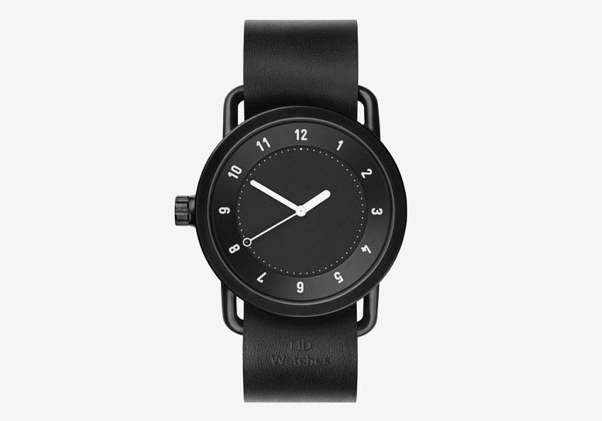 TID Watches – černé designové hodinky, švédské