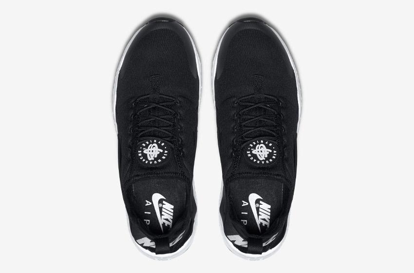 Nike Air Huarache Ultra — černé — horní pohled