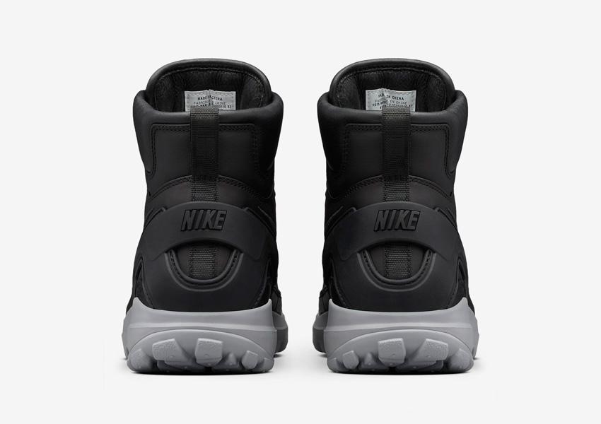 NikeLab x Stone Island Koth Ultra Mid — pánské sportovní boty — zadní pohled