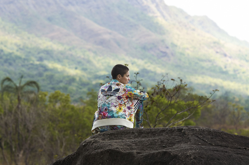 adidas Originals x Farm — tepláková bunda, barevná, květinový motiv — dámské sportovní oblečení