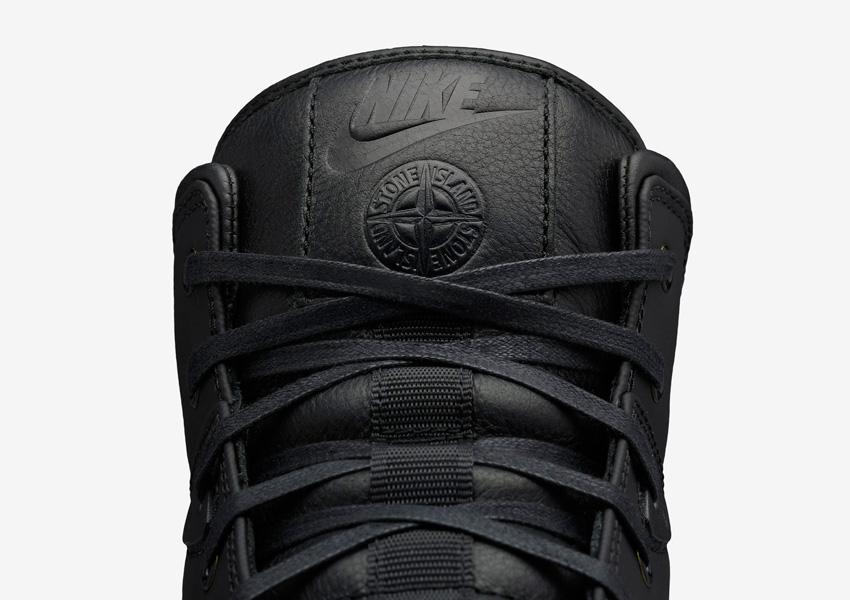 NikeLab x Stone Island Koth Ultra Mid — pánské sportovní boty — detail jazyka