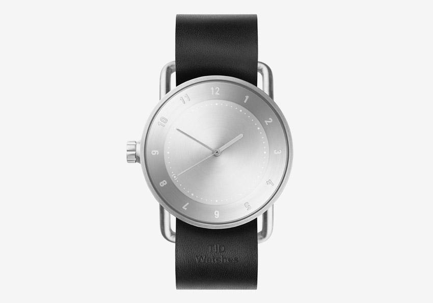 TID Watches – švédské hodinky, designové, minimalistické – ocelové pouzdro, černý kožený náramek – pánské