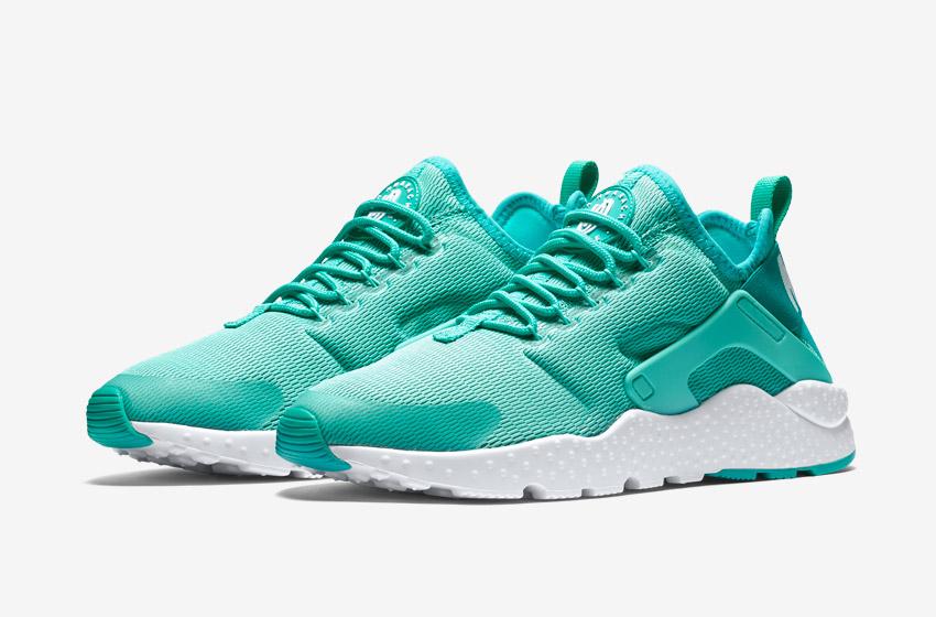 Nike Air Huarache Ultra — zelené dámské boty, běžecké sneakers, tenisky