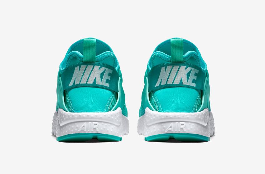 Nike Air Huarache Ultra — zelené — zadní pohled