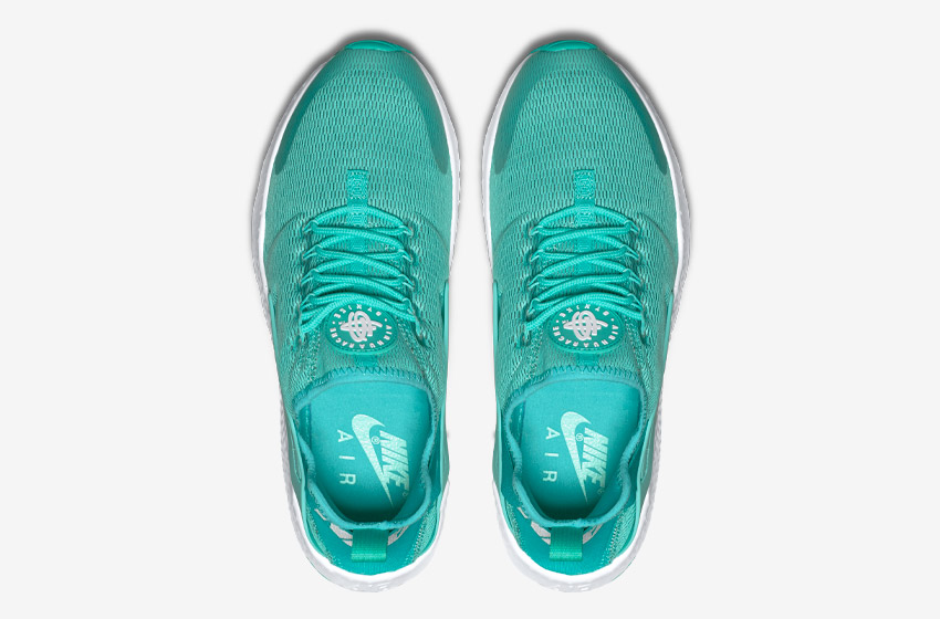 Nike Air Huarache Ultra — zelené — horní pohled