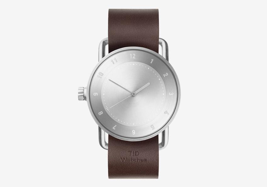 TID Watches – švédské hodinky, designové, minimalistické – ocelové pouzdro, hnědý kožený náramek – pánské