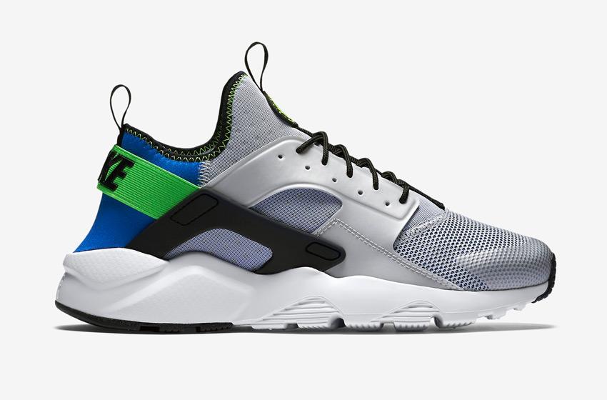 Nike Air Huarache Ultra — pánské boty, sneakers, běžecké — modro-šedé