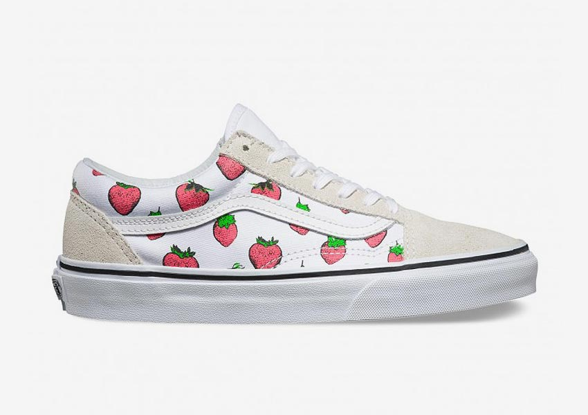 Vans Late Night Pack — Old Skool — True White/Strawberries — světlé s jahodami