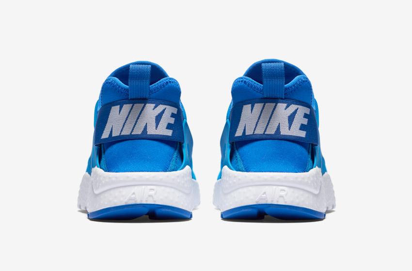 Nike Air Huarache Ultra — modré — zadní pohled