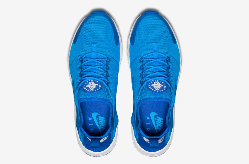 Nike Air Huarache Ultra — modré — horní pohled