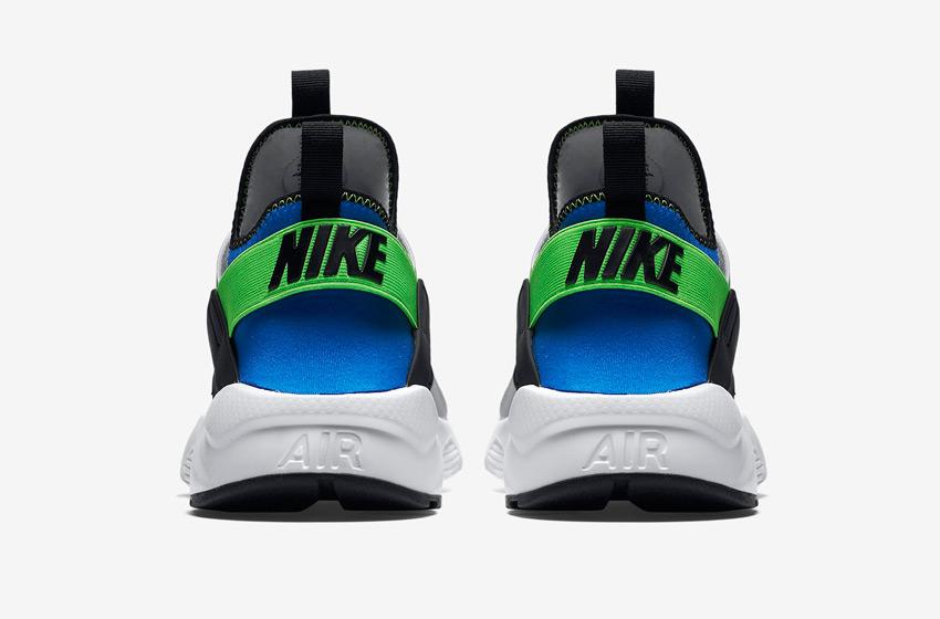 Nike Air Huarache Ultra — modro-šedé — zadní pohled