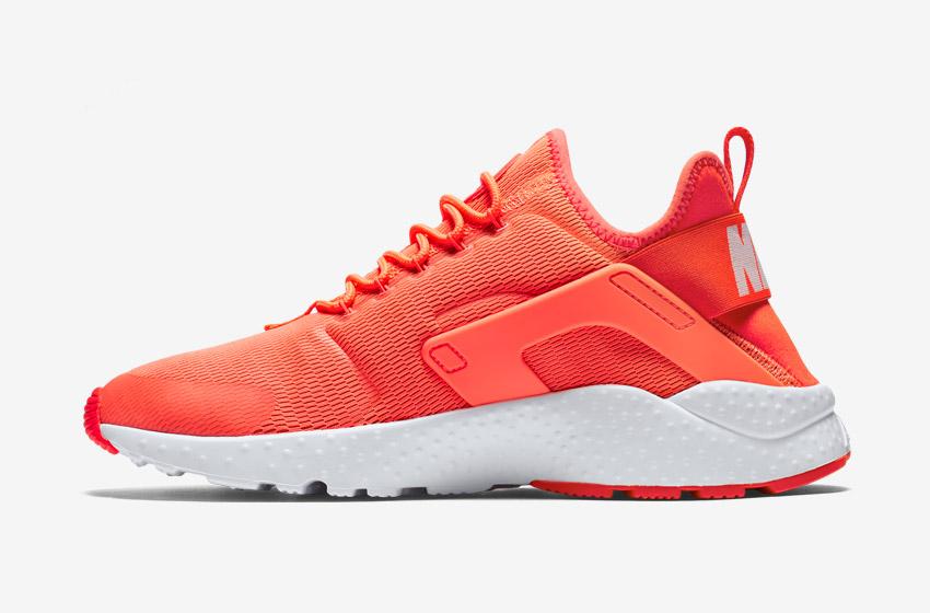 Nike Air Huarache Ultra — dámské tenisky, běžecké boty, sneakers — oranžové