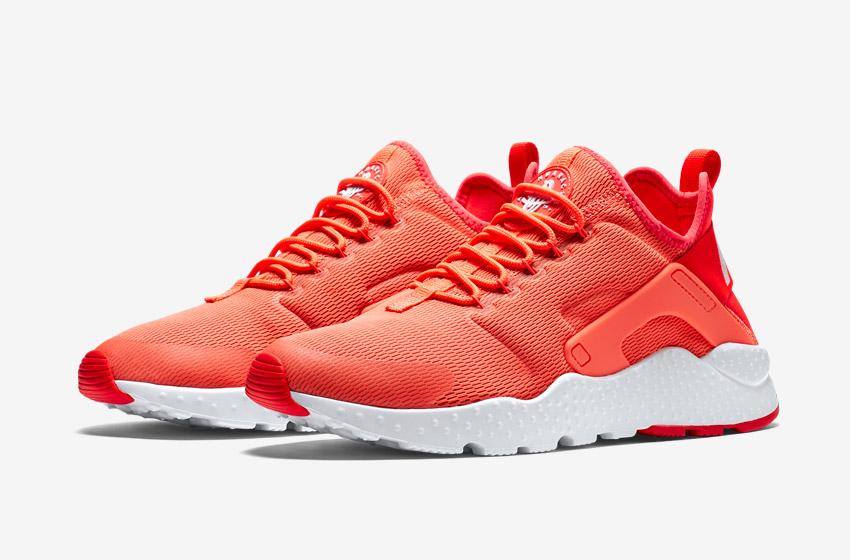 Nike Air Huarache Ultra — oranžové dámské boty, běžecké sneakers, tenisky