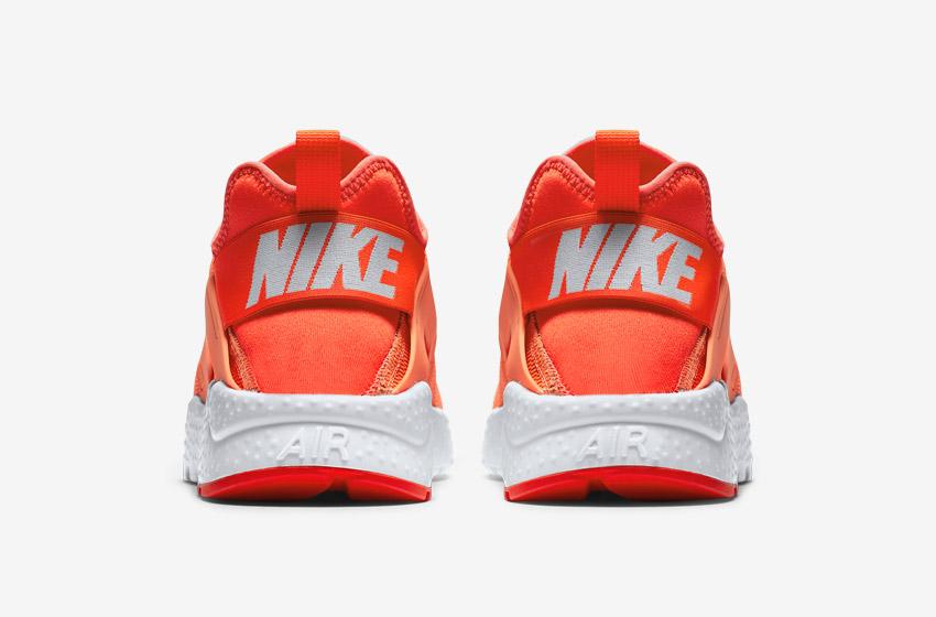 Nike Air Huarache Ultra — oranžové — zadní pohled