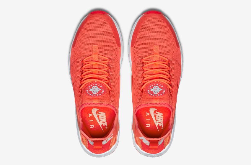 Nike Air Huarache Ultra — oranžové — horní pohled