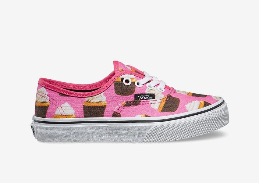 Vans Late Night Pack — dětské tenisky Kids Authentic — Hot Pink/Cupcakes — růžové