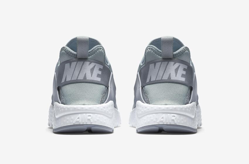 Nike Air Huarache Ultra — šedé — zadní pohled