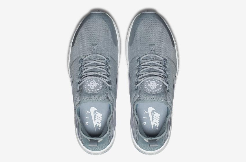 Nike Air Huarache Ultra — šedé — horní pohled