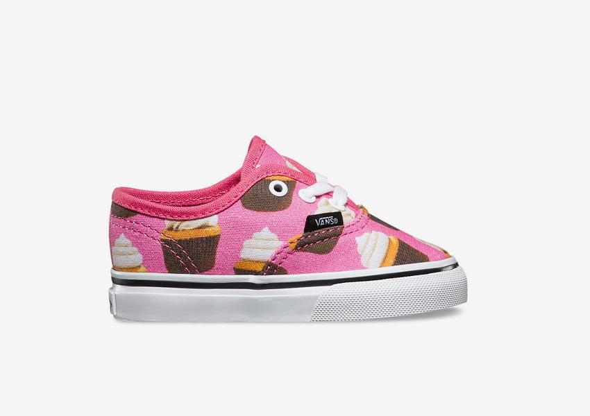 Vans Late Night Pack — dětské tenisky Toddler Authentic — Hot Pink/Cupcakes — růžové