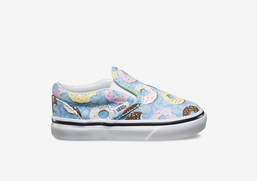 Vans Late Night Pack — Toddler Classic Slip-On — Skyway/Donuts — světle modré