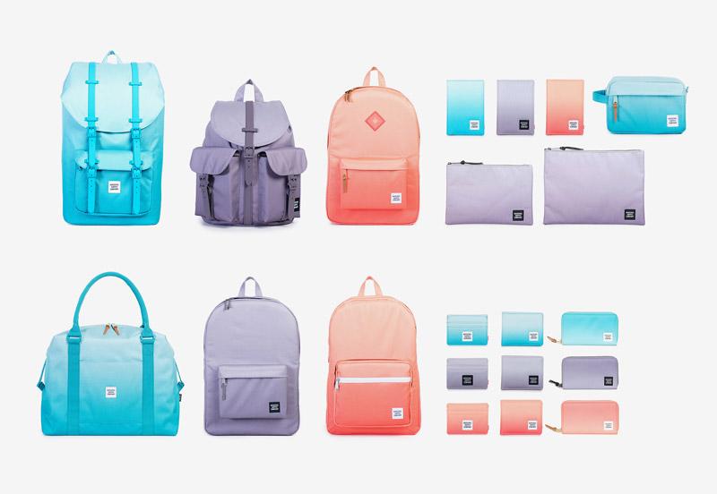 Herschel Supply — uhrančivá kolekce Gradient — batohy, tašky, taštičky, pouzdra, peněženky