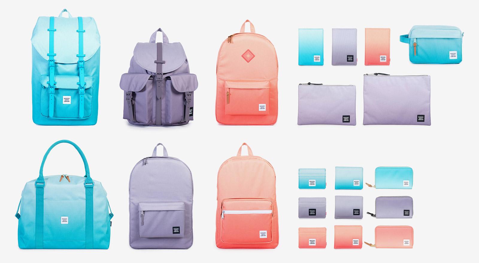 Herschel Supply — plátěné batohy, tašky, taštičky, pouzdra, peněženky — kolekce Gradient