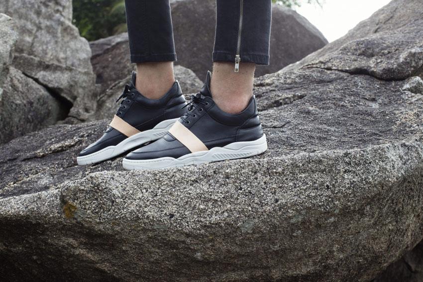 Filling Pieces — černé tenisky, luxusní sneakers, kožené boty — pánské, dámské — lookbook — Metamorphosis — jaro/léto 2016
