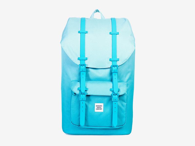 Herschel Supply — plátěný batoh na záda — modrý, tyrkysový — Little America Backpack — kolekce Gradient