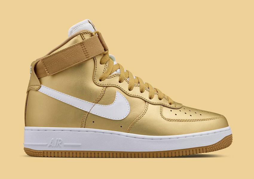 b67c1dd6b4c Nike Air Force 1 High — zlaté kotníkové boty od NikeLab