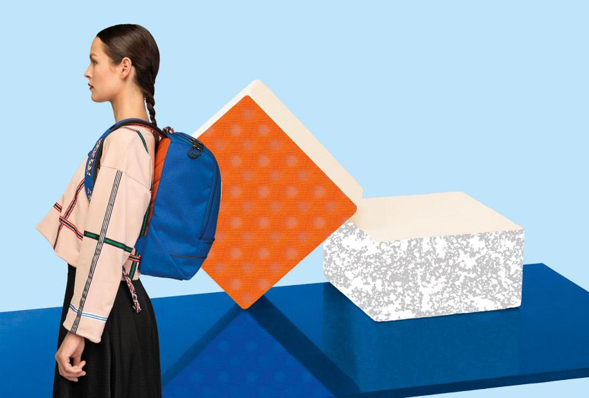 Pinqponq — plátěné batohy na záda z PET lahví — modrý — lookbook 2016
