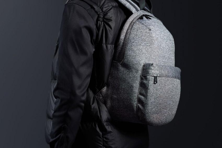 Herschel Supply — batoh na záda, tkaný — Lawson — šedý melír — ApexKnit