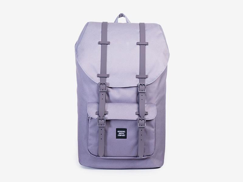 Herschel Supply — plátěný batoh na záda — fialový — Little America Backpack — kolekce Gradient