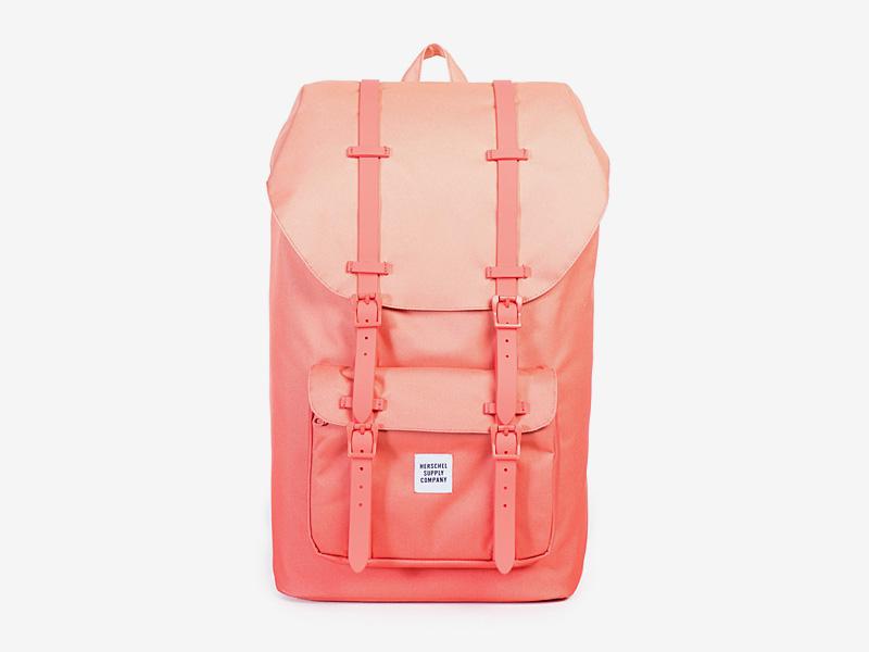 Herschel Supply — batoh na záda, plátěný — oranžový — Little America Backpack — kolekce Gradient