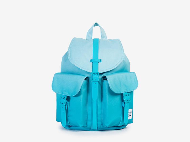 Herschel Supply — plátěný dámský batoh na záda — tyrkysový, modrý — Dawson Backpack — kolekce Gradient