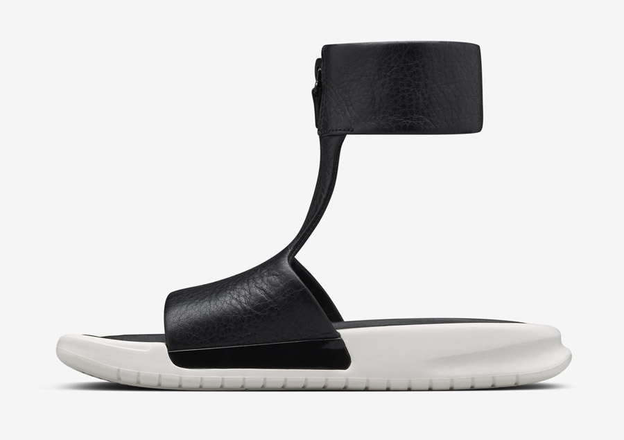 NikeLab Benassi Cuff Lux Sandal — luxusní sandály, letní — dámské — černé, bílé