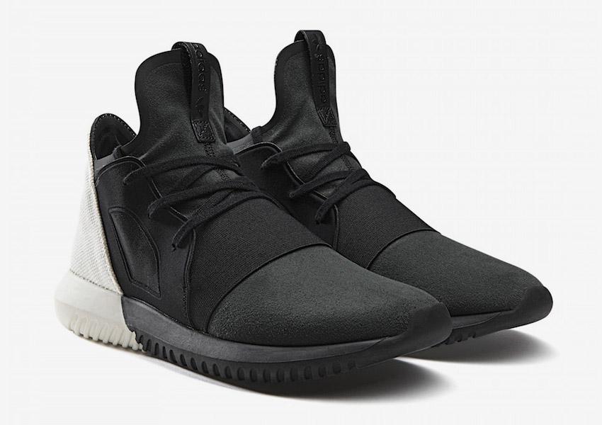 adidas Originals Tubular Defiant — boty, futuristické sneakers — černé, bílé — dámské — Color Contrast Pack