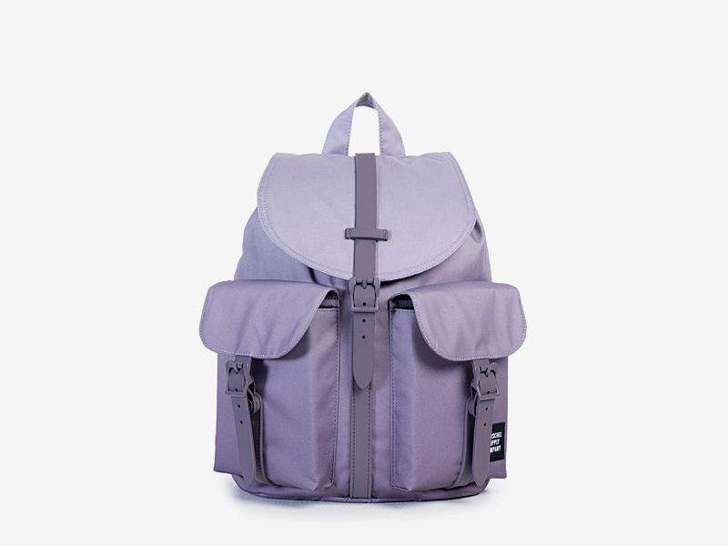 Herschel Supply — dámský plátěný batoh na záda — fialový — Dawson Backpack — kolekce Gradient