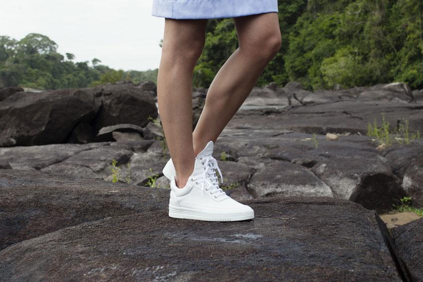 Filling Pieces — bílé boty, luxusní sneakers, kožené tenisky — dámské, pánské — lookbook — Metamorphosis — jaro/léto 2016