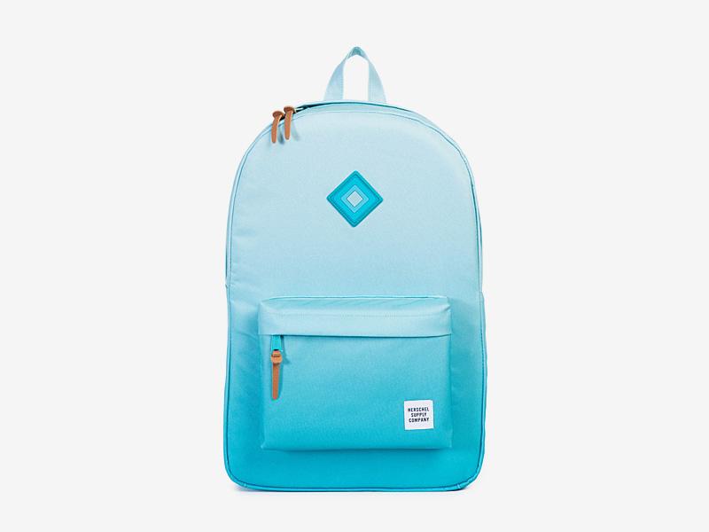Herschel Supply — plátěný dámský batoh na záda — modrý, tyrkysový — Heritage Backpack — kolekce Gradient