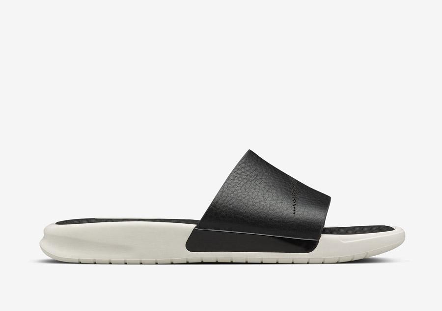 NikeLab Benassi Lux — pantofle (nazouváky), letní, luxusní — dámské — černé, bílé