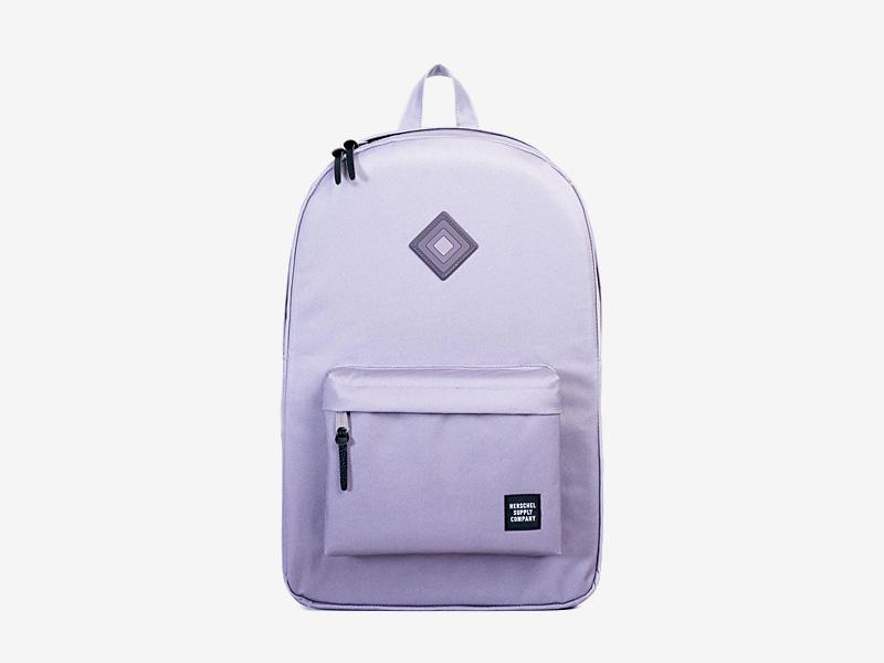 Herschel Supply — plátěný batoh na záda, dámský — fialový — Heritage Backpack — kolekce Gradient