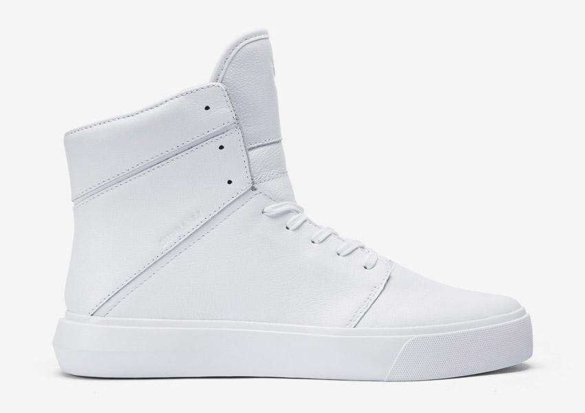 Supra Camino — kotníkové boty — bílé — vysoké sneakers, kožené tenisky — dámské, pánské — High Tops