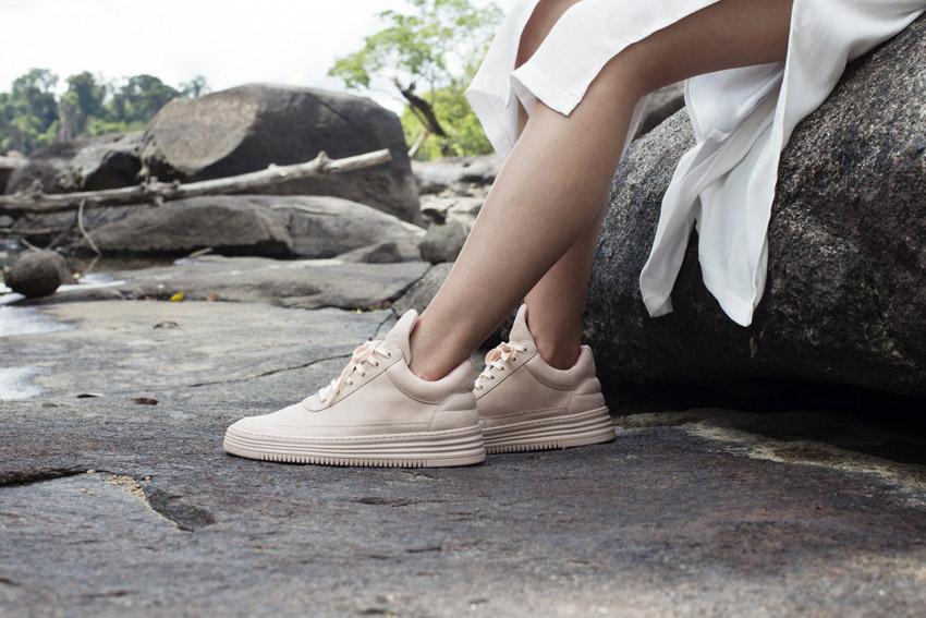 Filling Pieces — béžové boty, luxusní tenisky, kožené sneakers — dámské, pánské — lookbook — Metamorphosis — jaro/léto 2016